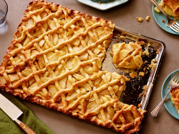 lattice apple sheet pie