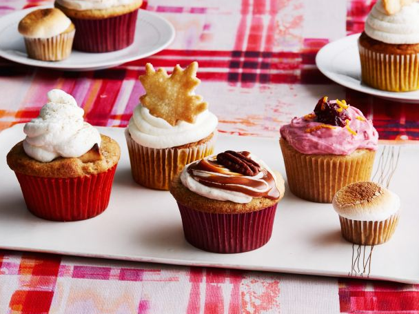 thanksgiving pie cupcakes