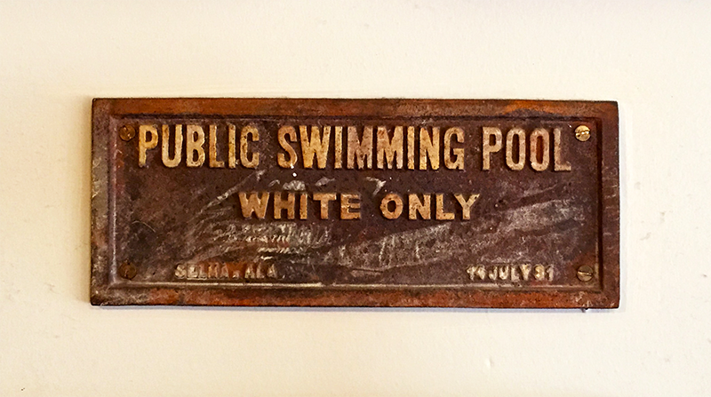 Whites Only Public Swimming Pool Plaque