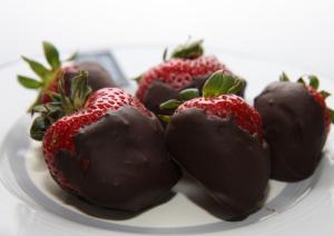 Ganache-Dipped Strawberries valentine's dessert portland